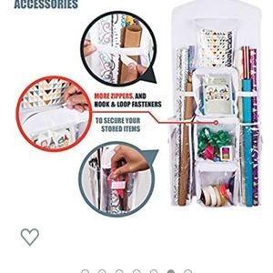 Wrapping paper card organizer